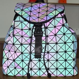 Geometric Holographic Reflective Rave Bag